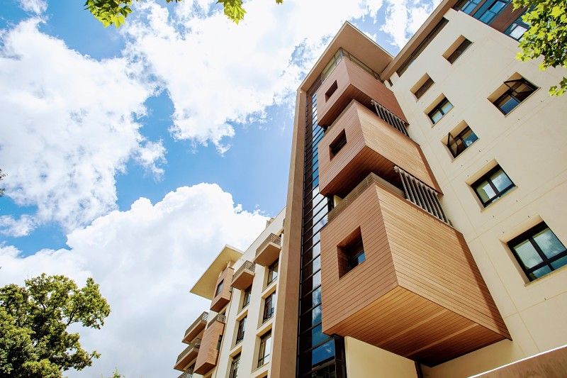 Cladding - Composite deck wall cladding is virtually maintenance-free