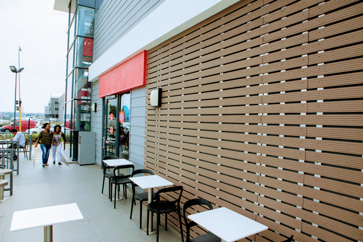Cladding that is a coating or covering on a structure in Bryanston