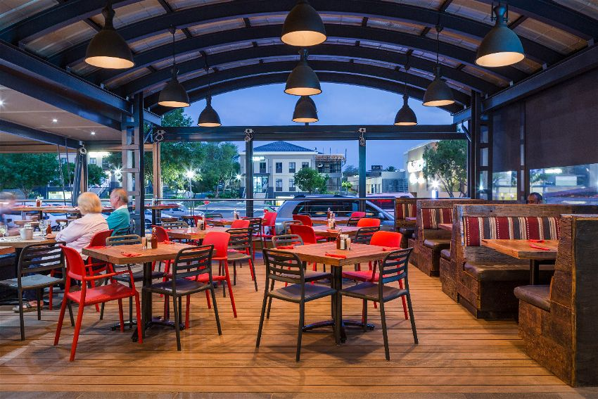 Commercial Composite Decking Smokehouse and Grill in Johannesburg