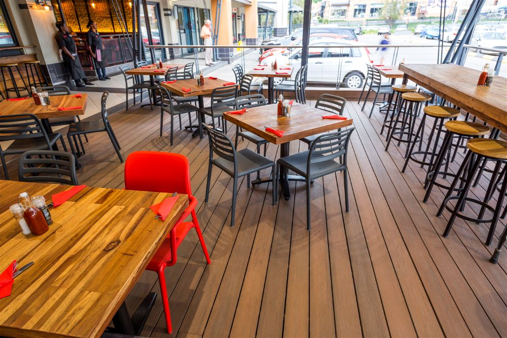 Commercial Plastic Composite decking Smokehouse and Grill Fourways