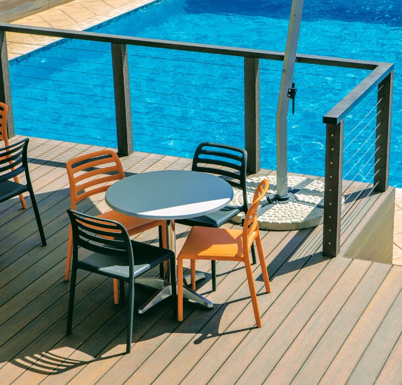 Outdoor eco composite decking less maintenance and is comfortable when you are relaxing on the deck in Bryanston