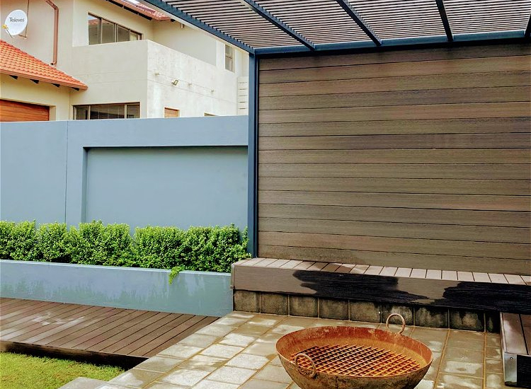 Cladding for a patio and walkway