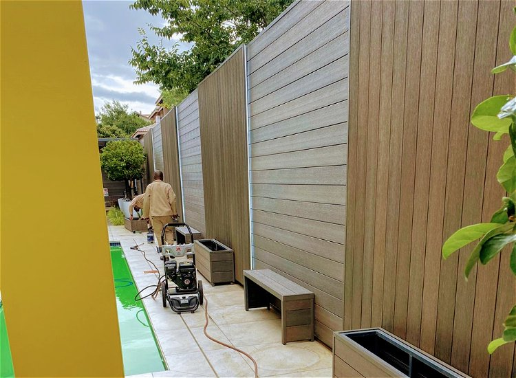 Plastic Cladding Low Maintenance - Refinishing is not required.