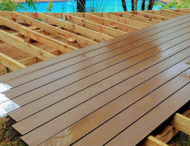 DIY Composite decking project converted to full installation of Bamboo Composite Decking in Randburg