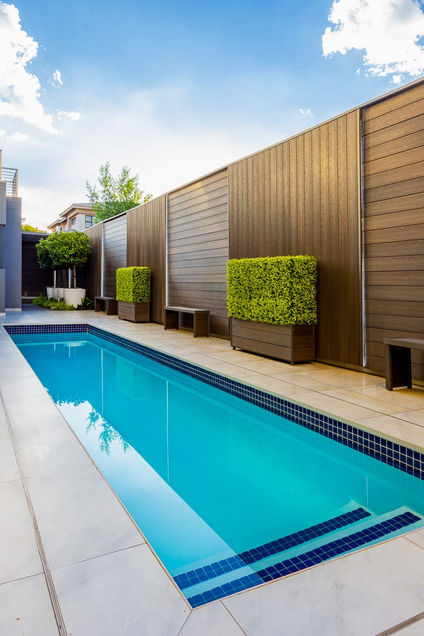 recycled plastic decking used as wall cladding